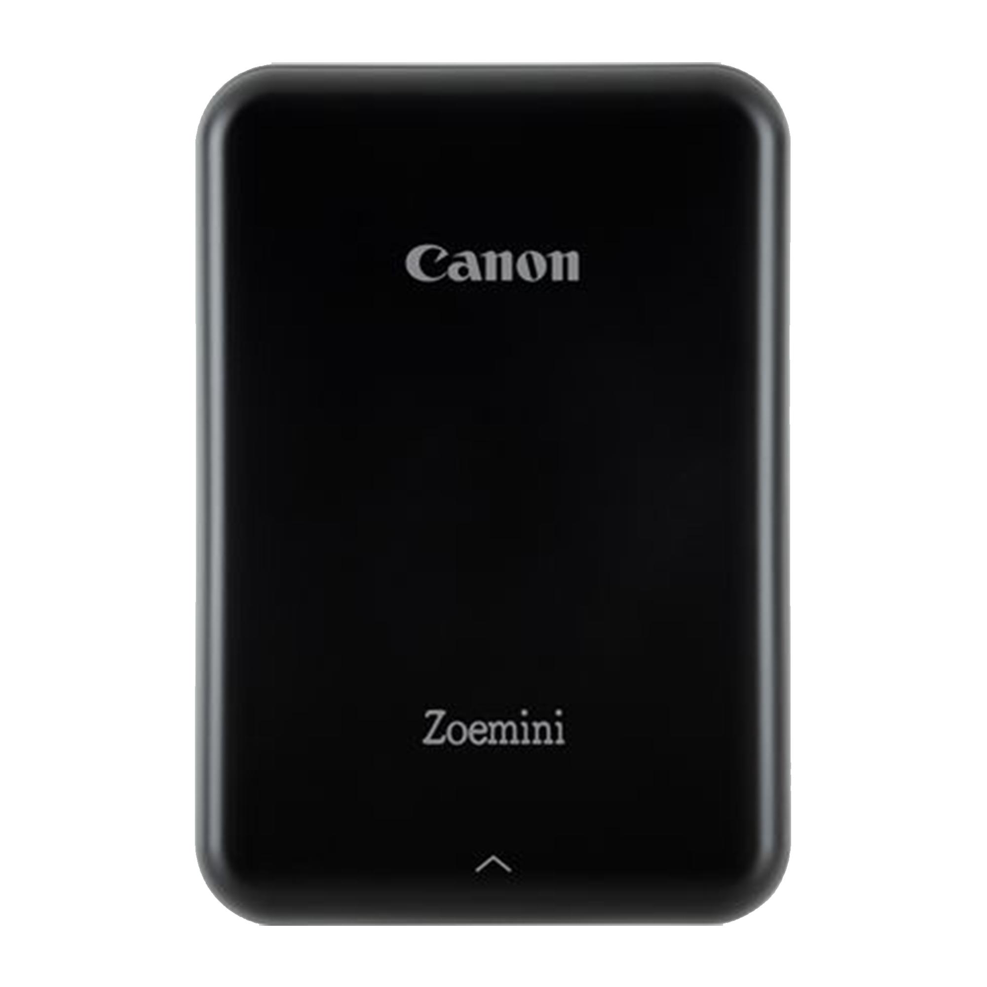 Canon Zoemini Printer - Black + Canon Zink Paper ZP-2030 20 Sheets