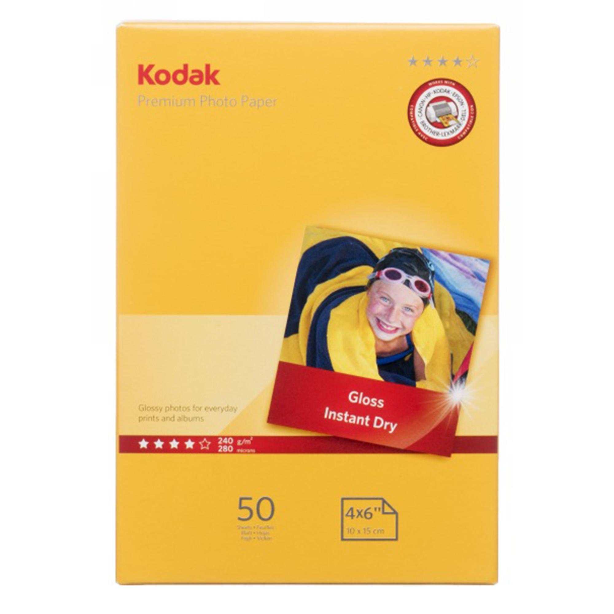 Kodak 6 x 4 (15 x 10cm) Gloss Premium Photo Paper 50 Sheets